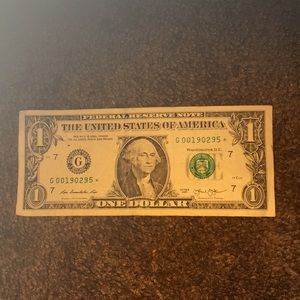 U.S. Currency Star note (RaRE)